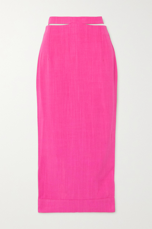 Jacquemus Valerie cutout woven midi skirt