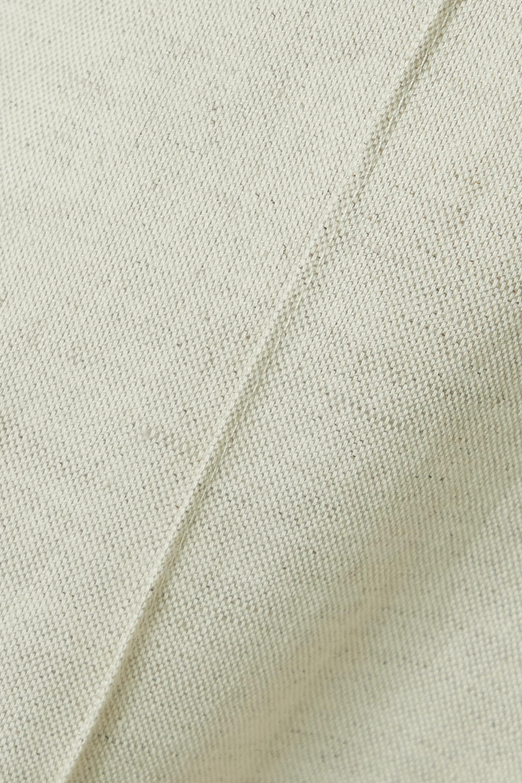 Beige Carro Cotton And Linen-blend Midi Shirt Dress | Jacquemus