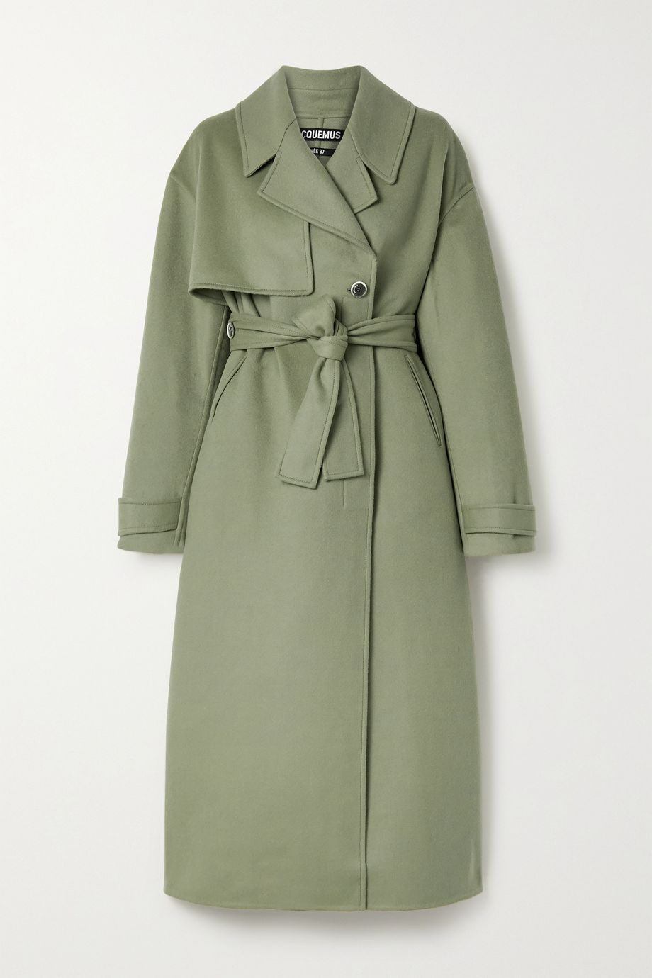 Jacquemus Sabe belted wool-blend felt coat