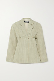 Jacquemus Sauge belted woven blazer