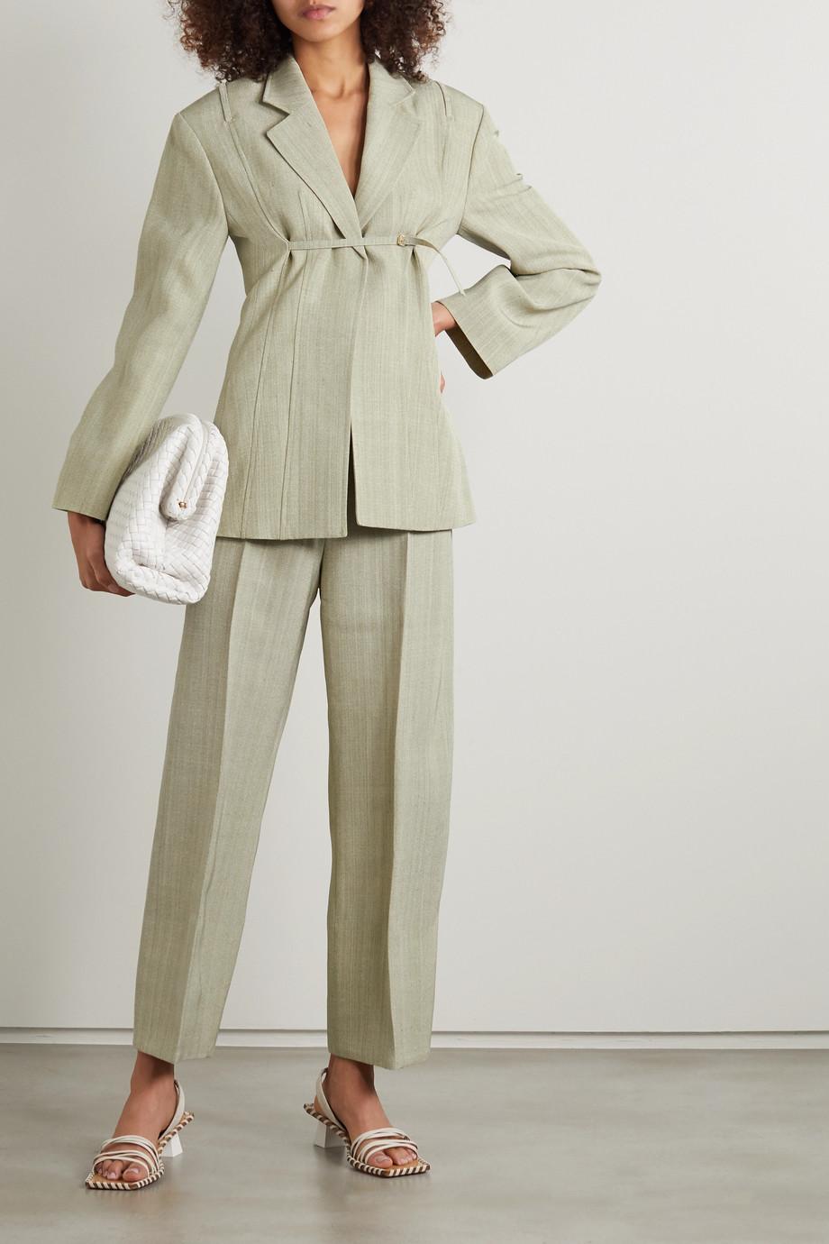 Jacquemus Santon woven wide-leg pants