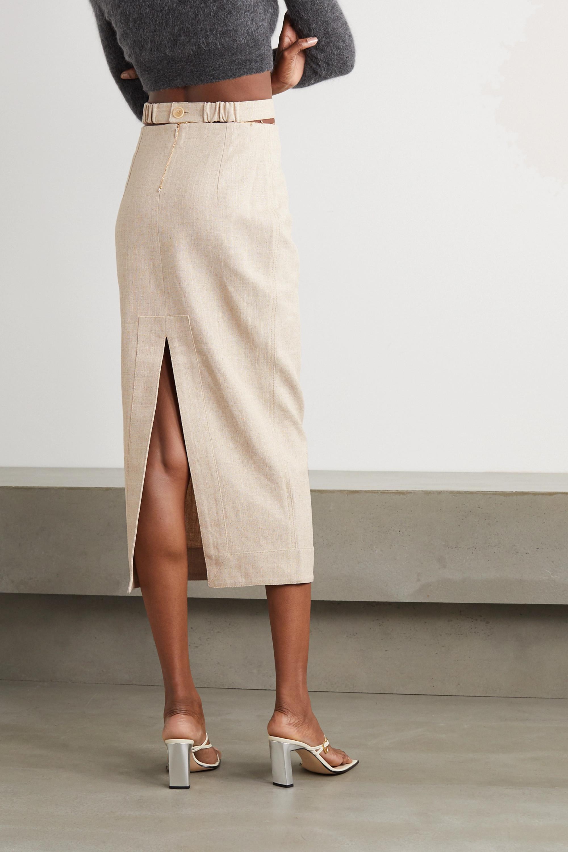 Jacquemus Cutout woven midi skirt