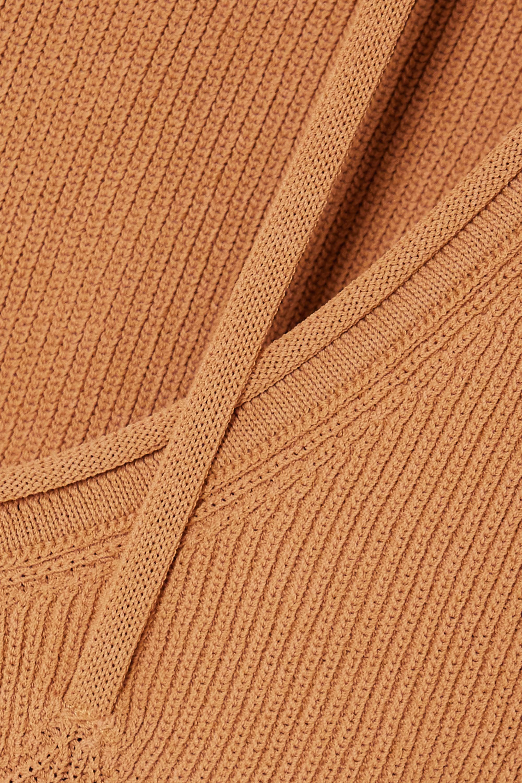 Jacquemus Cutout ribbed-knit top