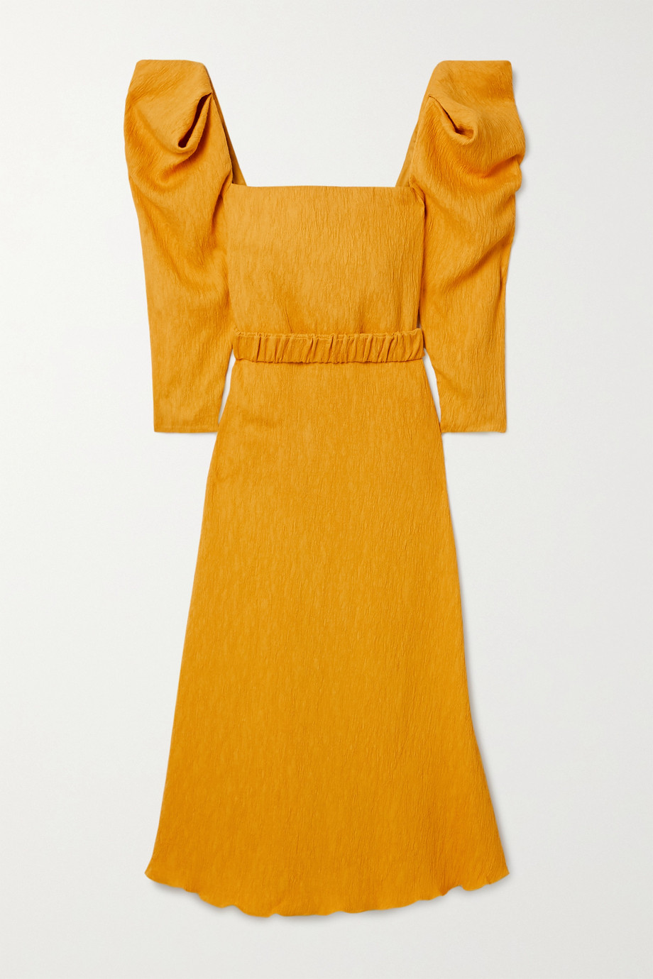 Johanna Ortiz Lotus and Beetle belted textured woven midi dress