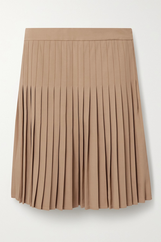 Peter Do Pleated crepe mini skirt