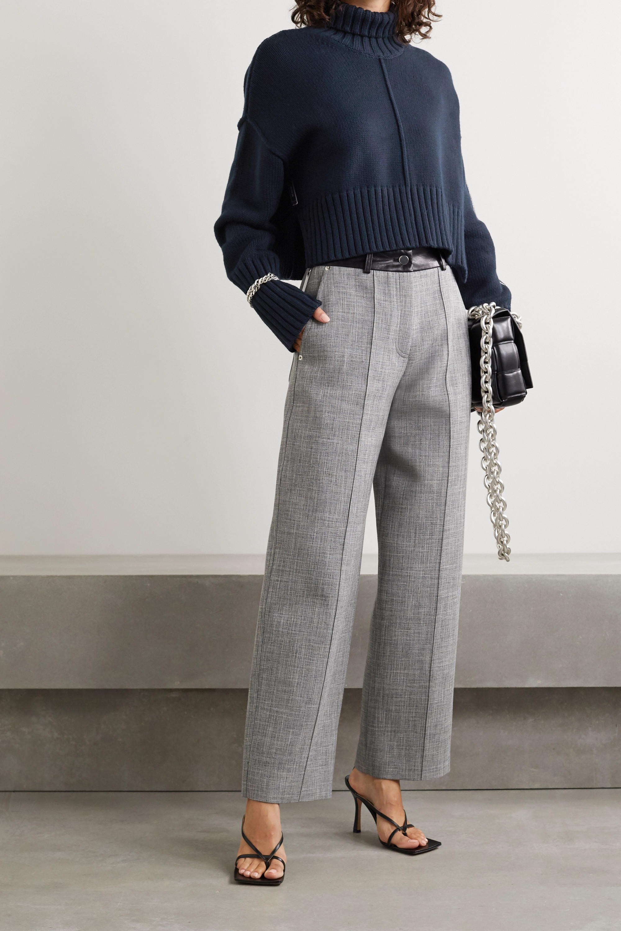 Peter Do Cropped knitted turtleneck sweater
