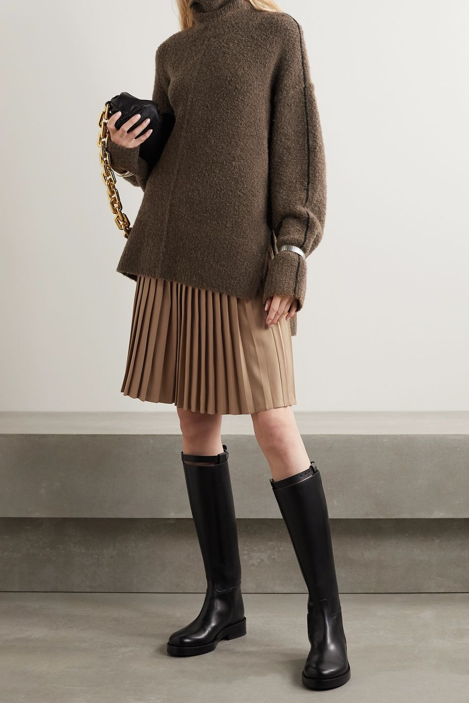 Peter Do Oversized wool-blend bouclé turtleneck sweater