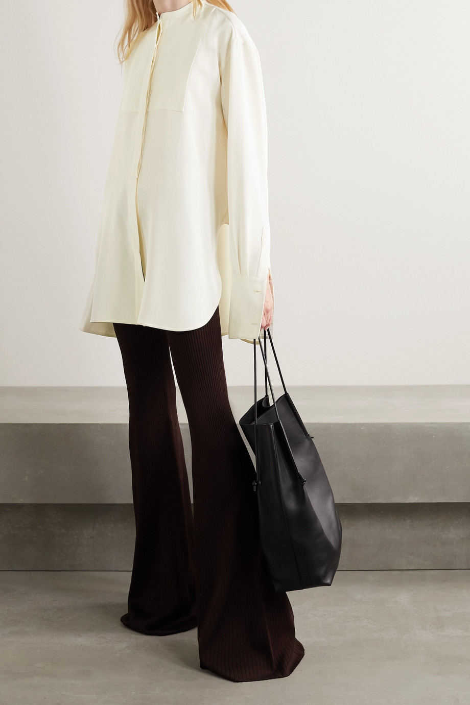 Peter Do Oversized silk-blend crepe shirt