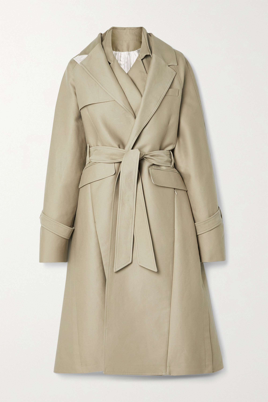 Peter Do Oversized layered cotton-gabardine trench coat