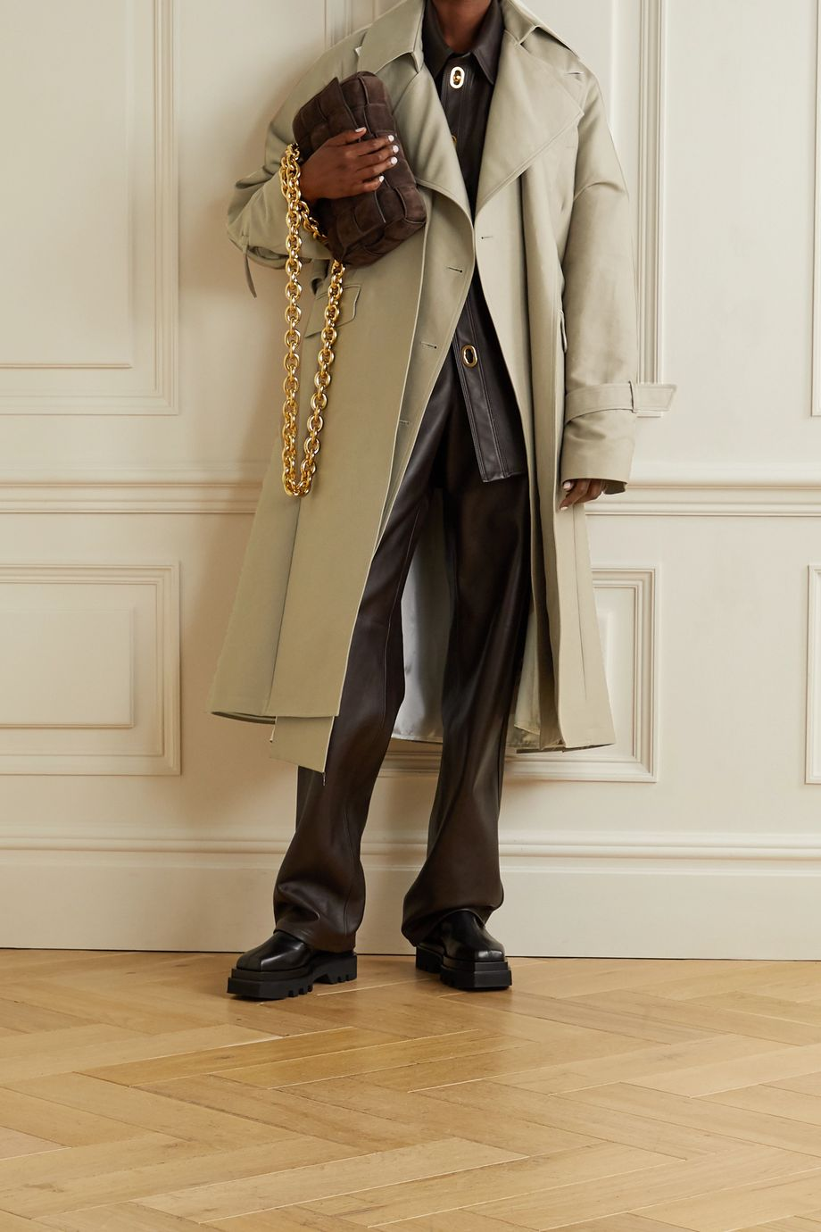 Peter Do Mehrlagiger Oversized-Trenchcoat aus Baumwollgabardine
