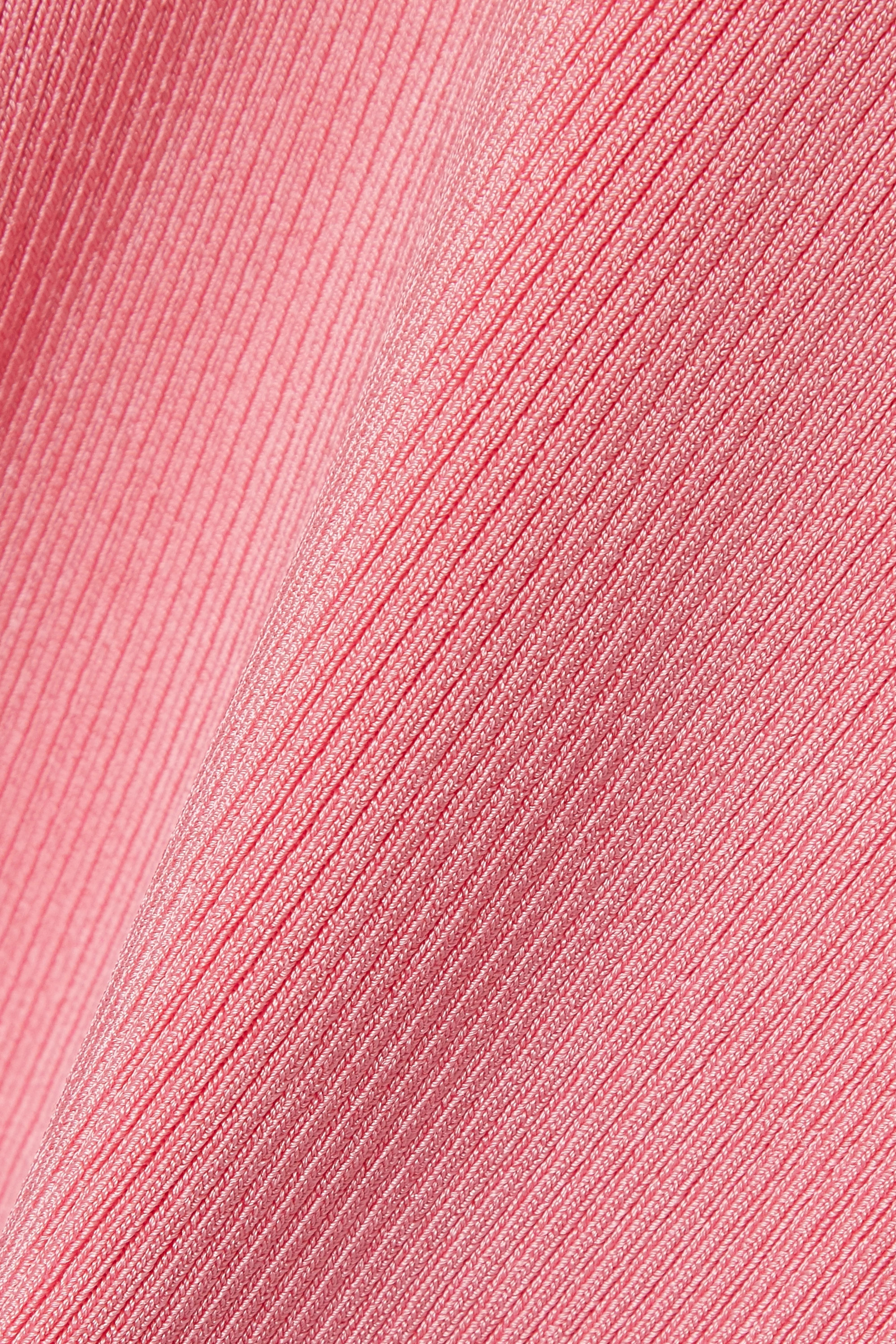 Baby Pink Ribbed-knit Top | Peter Do