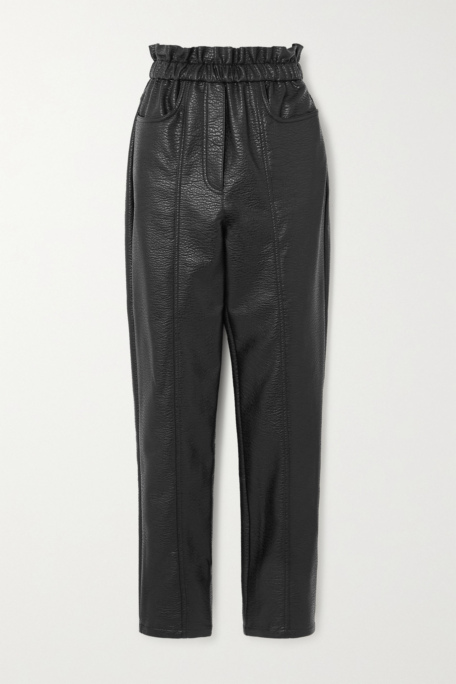 Philosophy di Lorenzo Serafini Faux textured-leather tapered pants