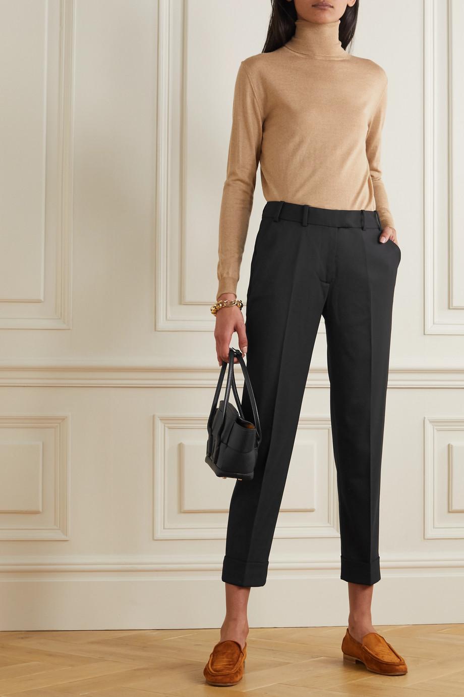 Cefinn Clement cropped twill slim-leg pants