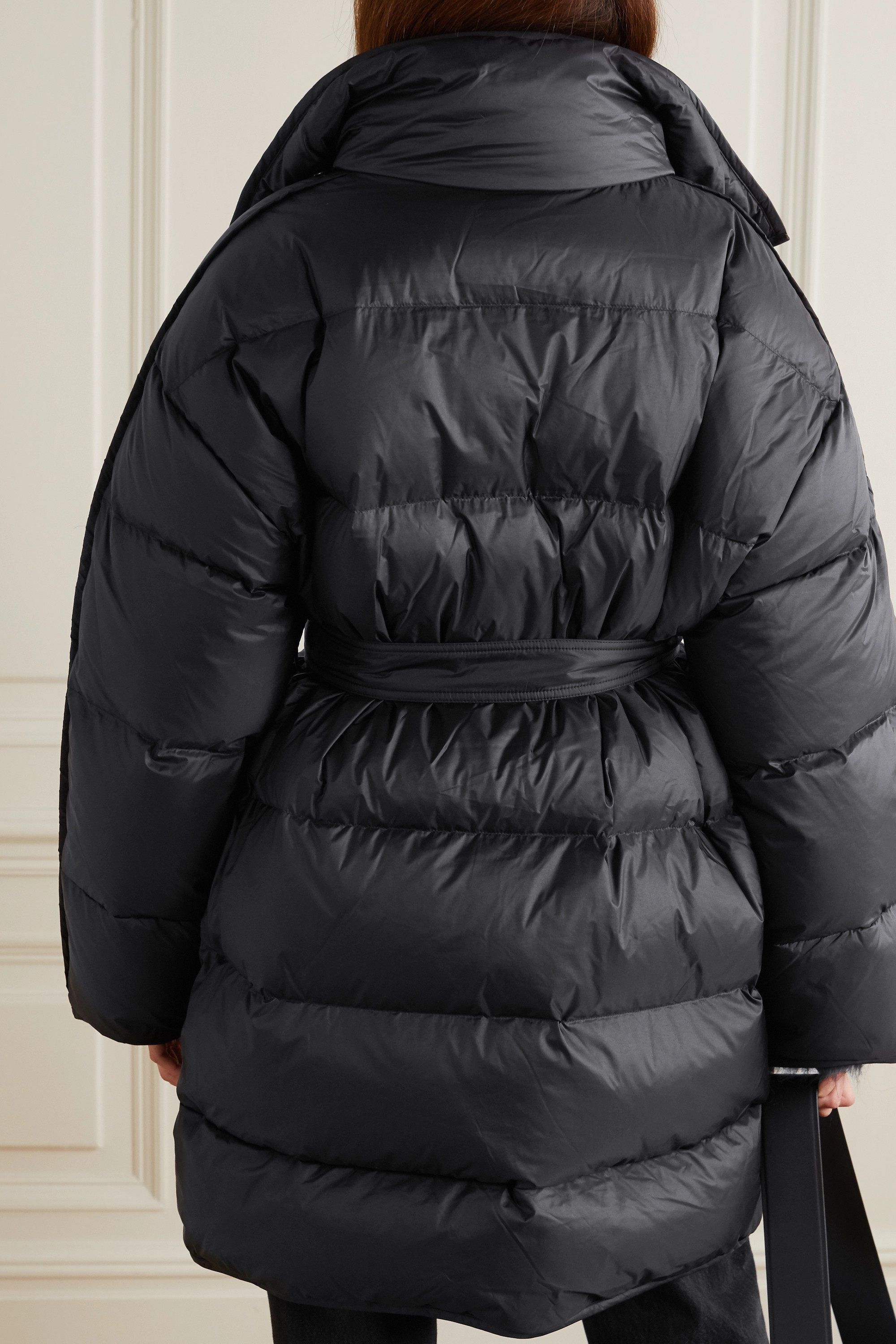 Acne Studios Oversized hooded belted quilted shell down coat