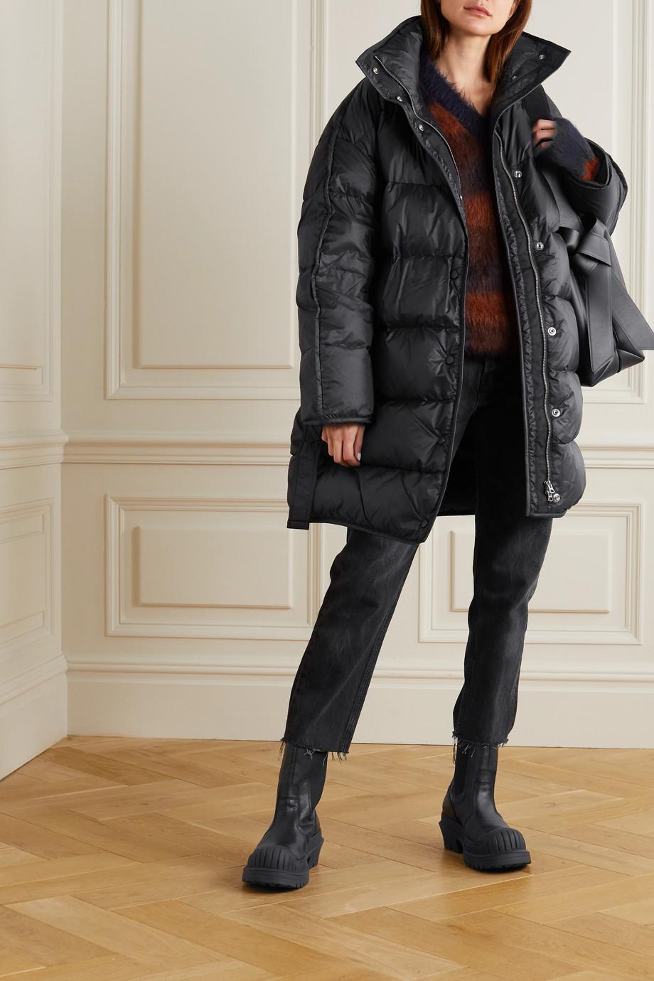 Acne Studios 大廓形配腰带绗缝软壳面料连帽羽绒外套