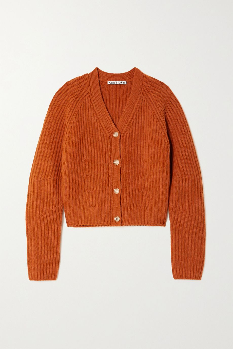 Acne Studios Ribbed wool cardigan