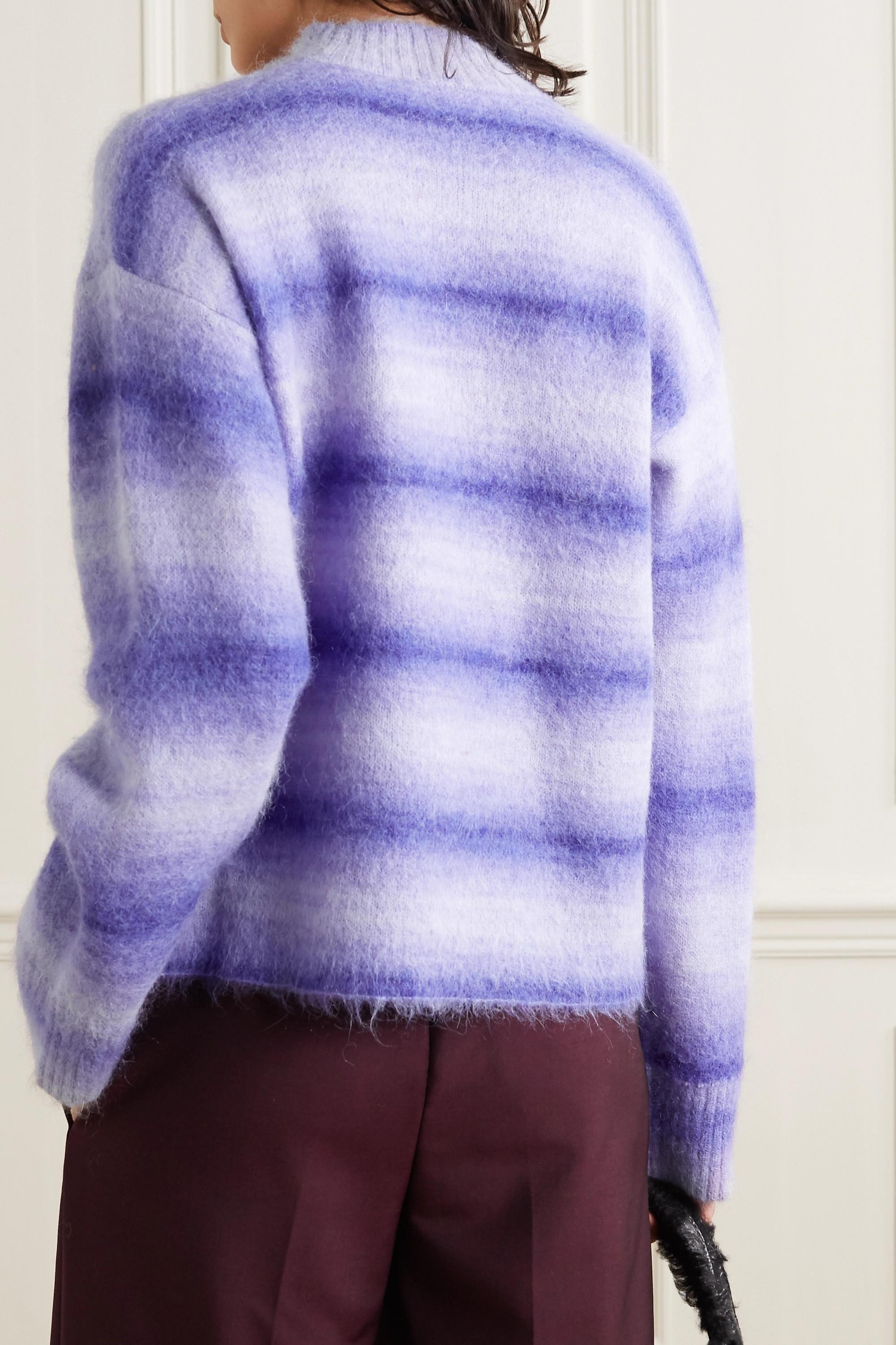 Violet Pull En Mailles Ombrées À Rayures | Acne Studios