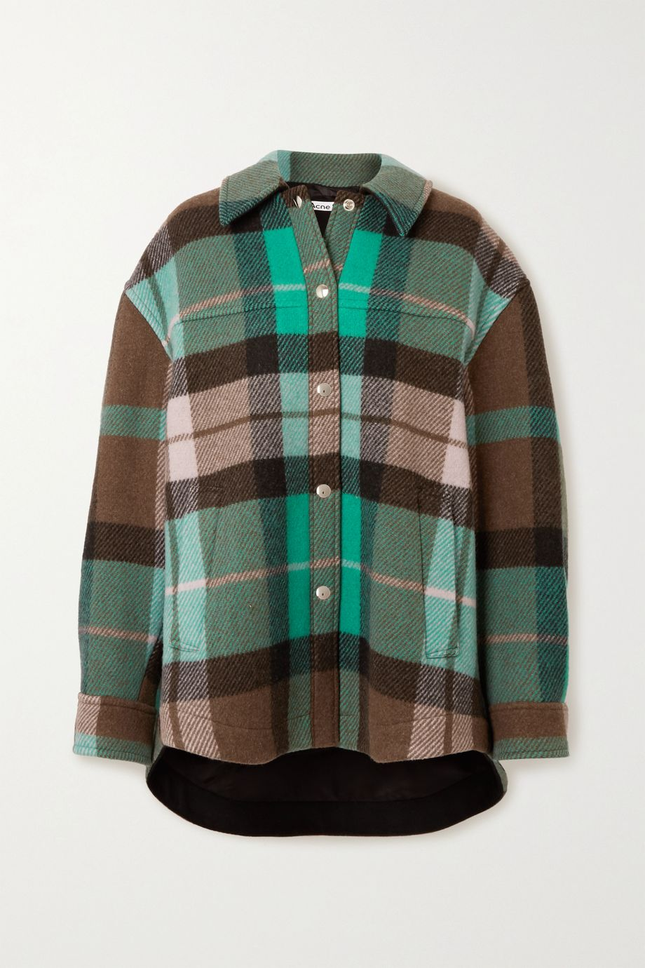Acne Studios Oversized checked wool-blend jacket