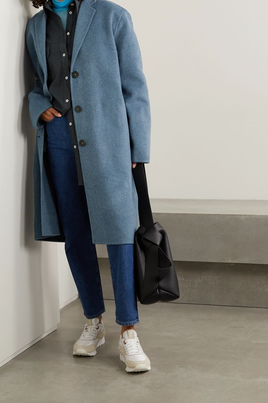 Acne Studios Oversized-Mantel aus melierter Wolle