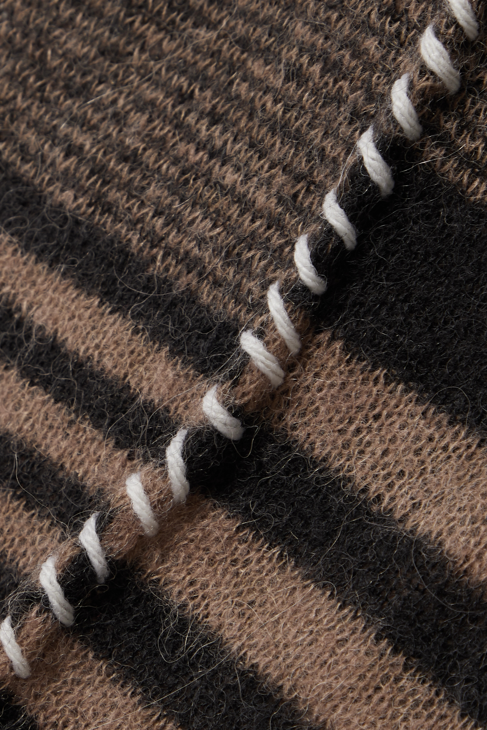 Acne Studios Whipstitched striped knitted sweater