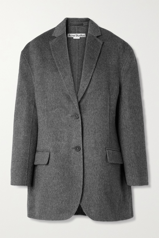 Acne Studios Oversized mélange brushed wool and alpaca-blend blazer