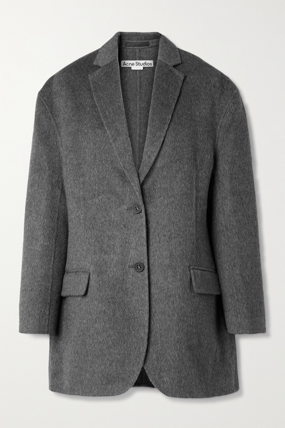 Acne Studios Oversized mélange brushed wool and alpaca-blend blazer