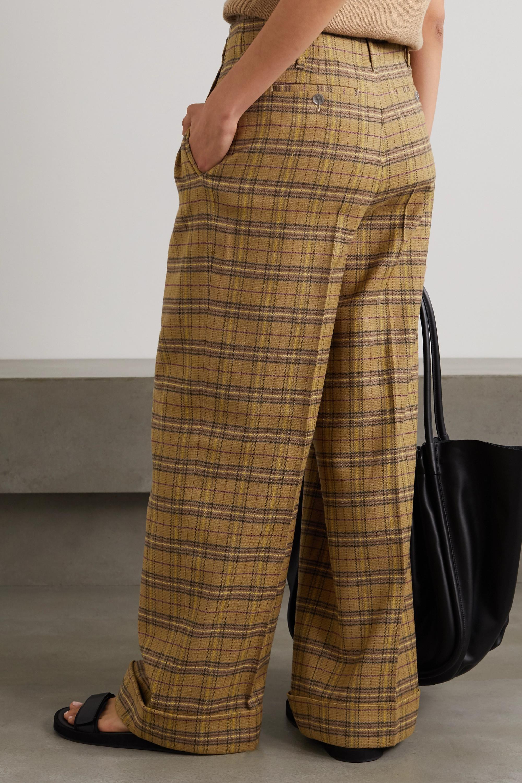 Acne Studios Hose mit weitem Bein aus einer karierten Wollmischung