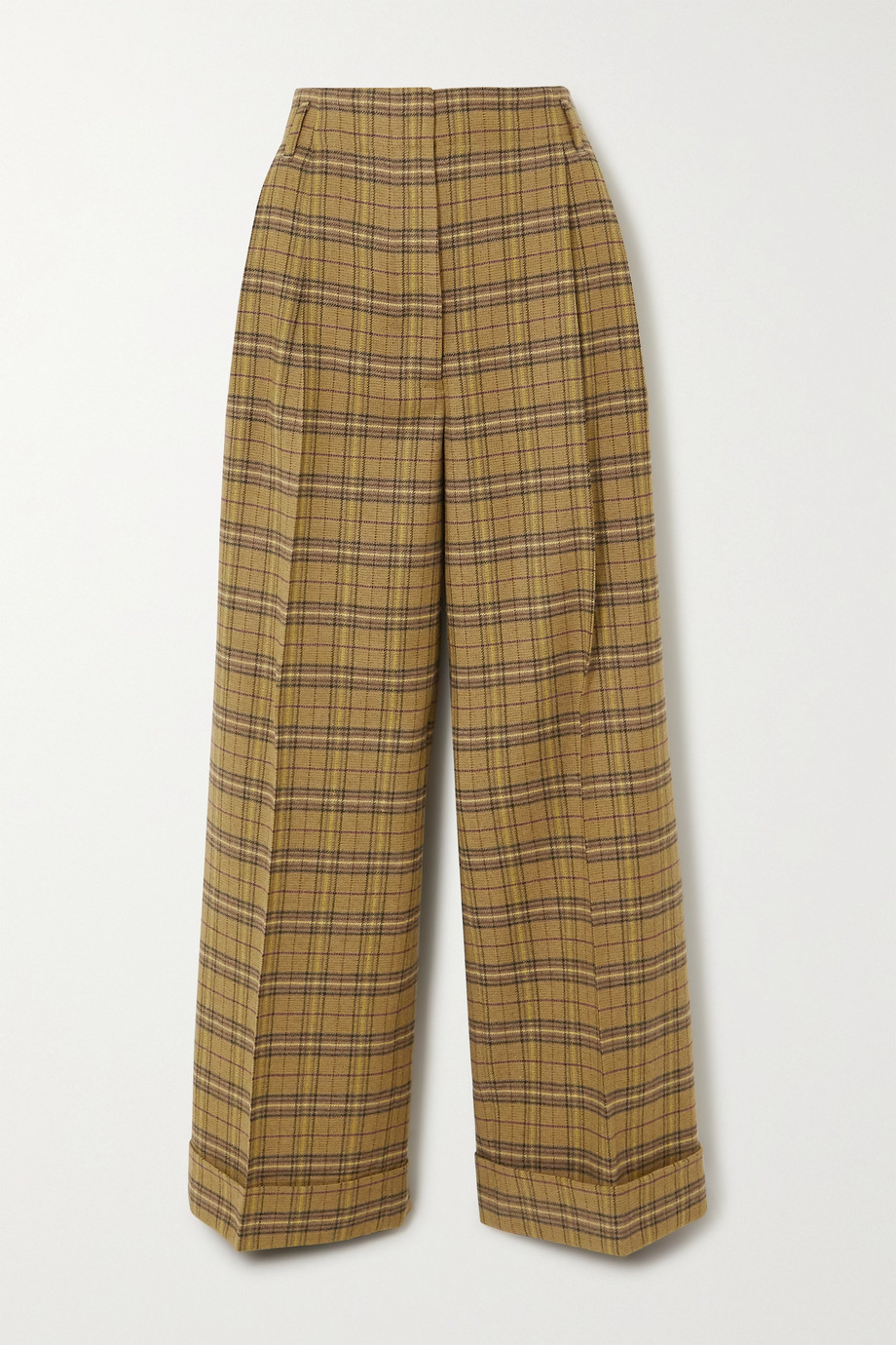 Acne Studios Checked wool-blend wide-leg pants