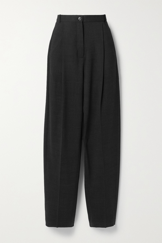 Acne Studios Pleated wool-blend straight-leg pants