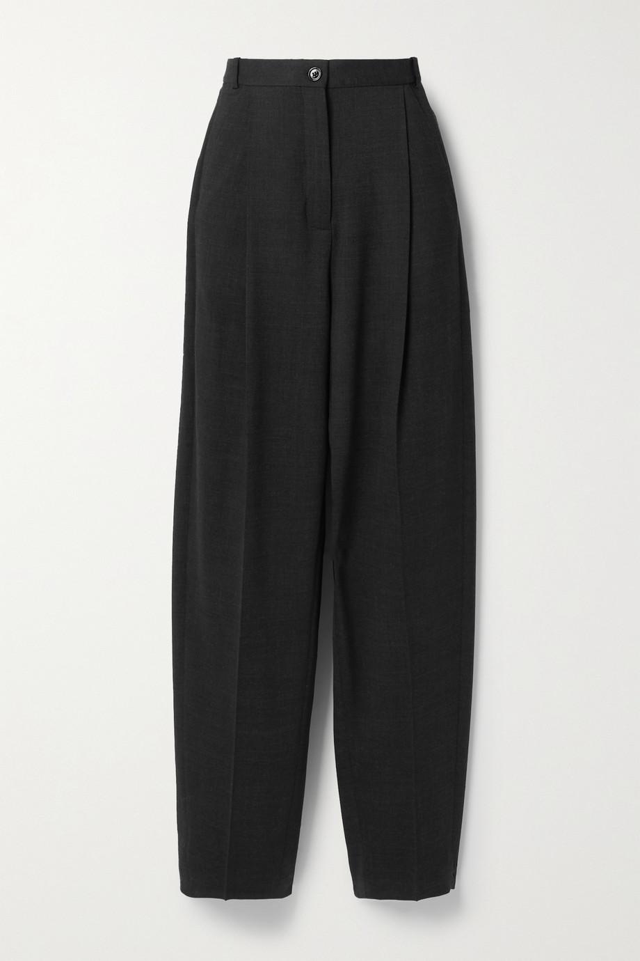 Acne Studios Hose mit geradem Bein aus einer Wollmischung mit Falten