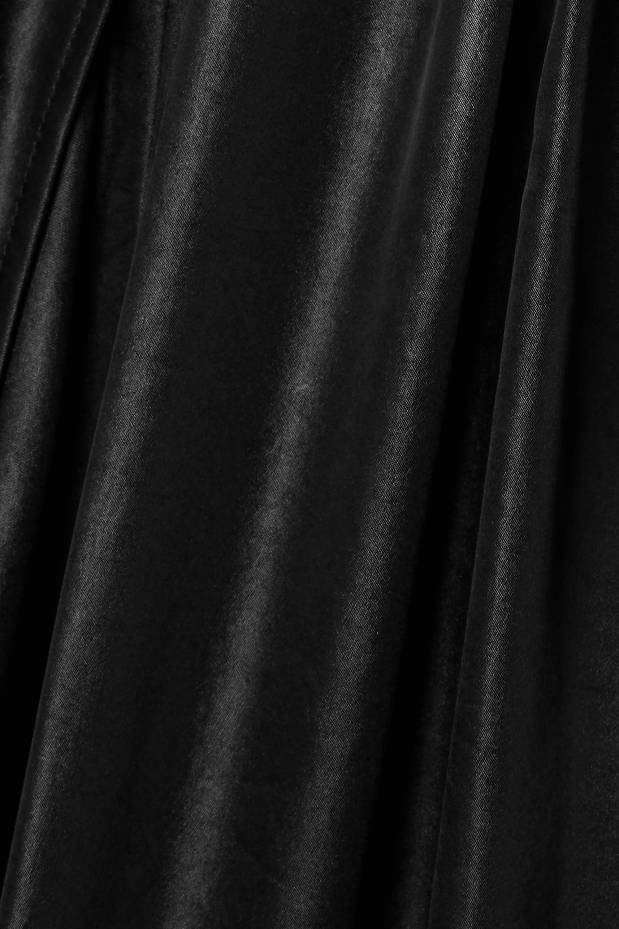 Acne Studios Robe midi en satin à fronces