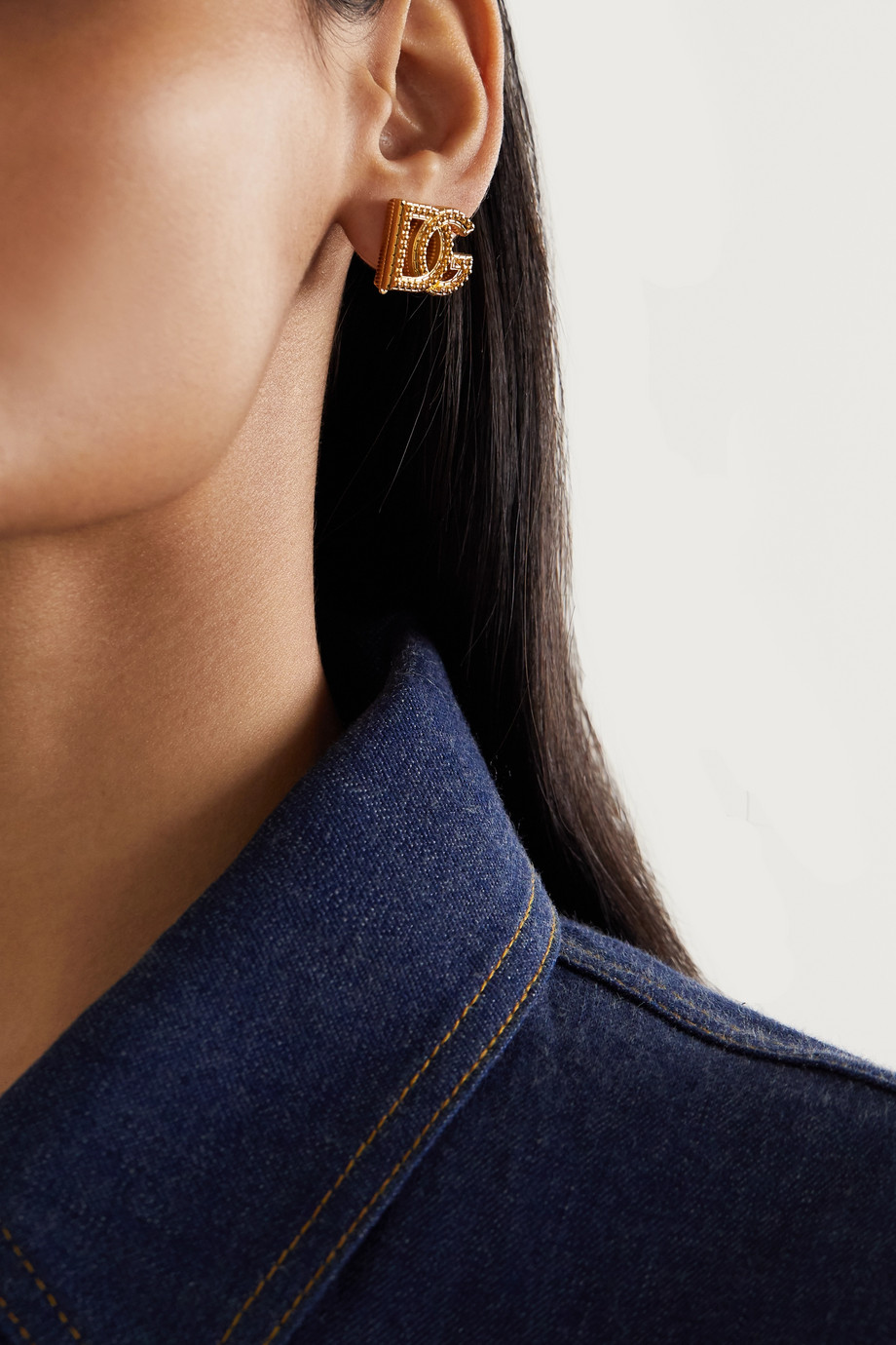 Dolce & Gabbana Goldfarbene Ohrclips