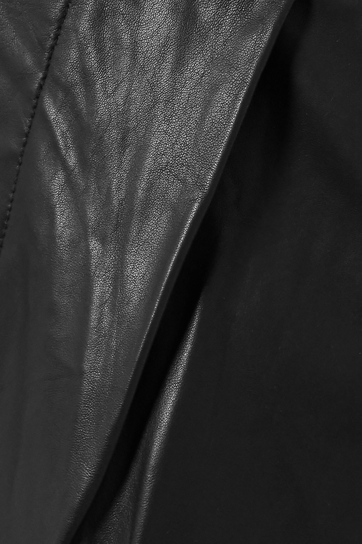 REMAIN Birger Christensen Duchesse leather straight-leg pants