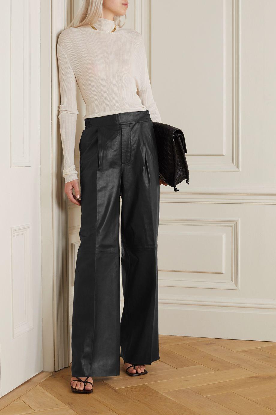 REMAIN Birger Christensen Duchesse Hose mit geradem Bein aus Leder