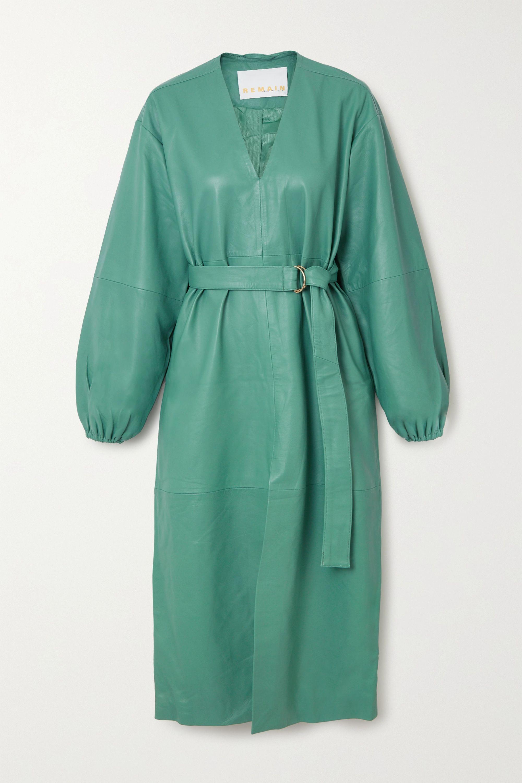 REMAIN Birger Christensen Vivian belted leather midi dress