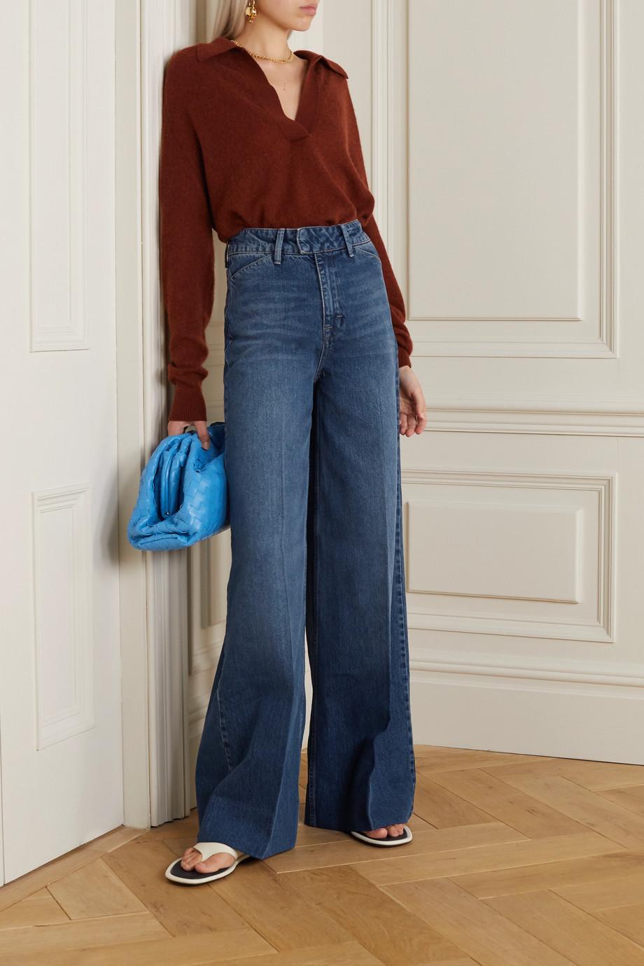 REMAIN Birger Christensen Bernadette high-rise wide-leg jeans