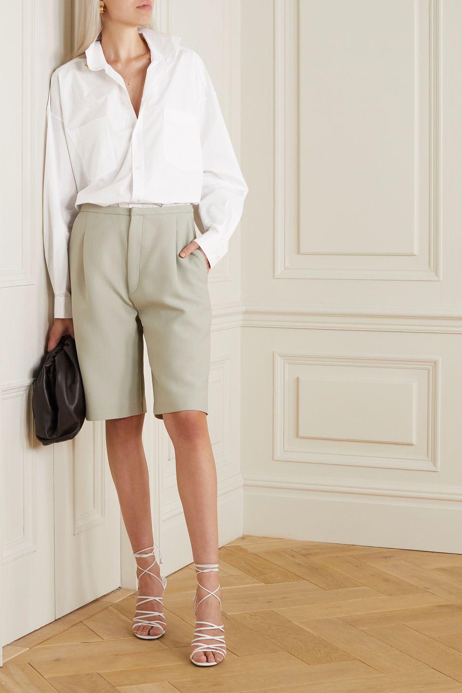 REMAIN Birger Christensen Robin 带缀饰有机纯棉府绸衬衫