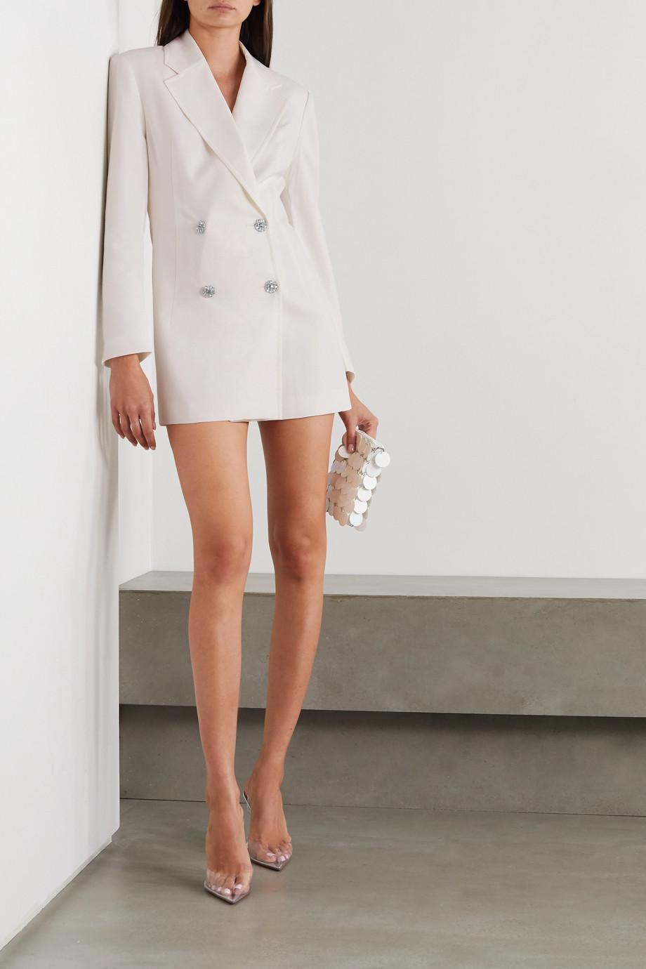 ROTATE Birger Christensen Fonda double-breasted crystal-embellished twill mini dress