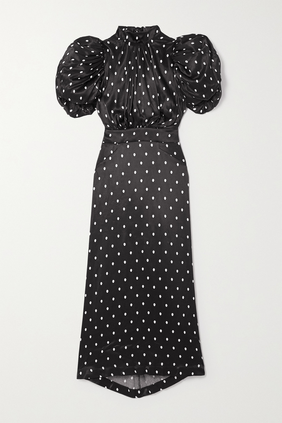 ROTATE Birger Christensen Dawn open-back polka-dot satin midi dress
