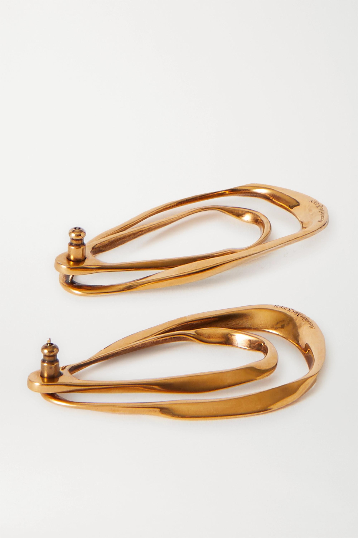 Alexander McQueen Boucles d'oreilles en métal doré