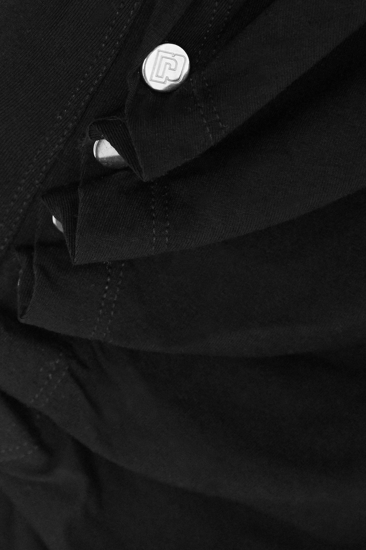 Paco Rabanne Asymmetric ruched stretch-jersey midi dress