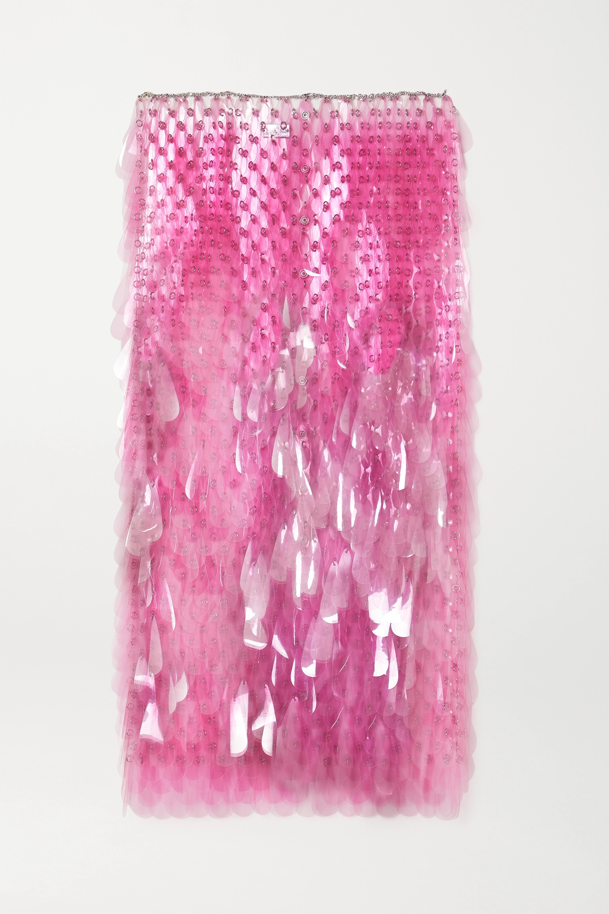 Paco Rabanne Paillette-embellished chainmail midi skirt