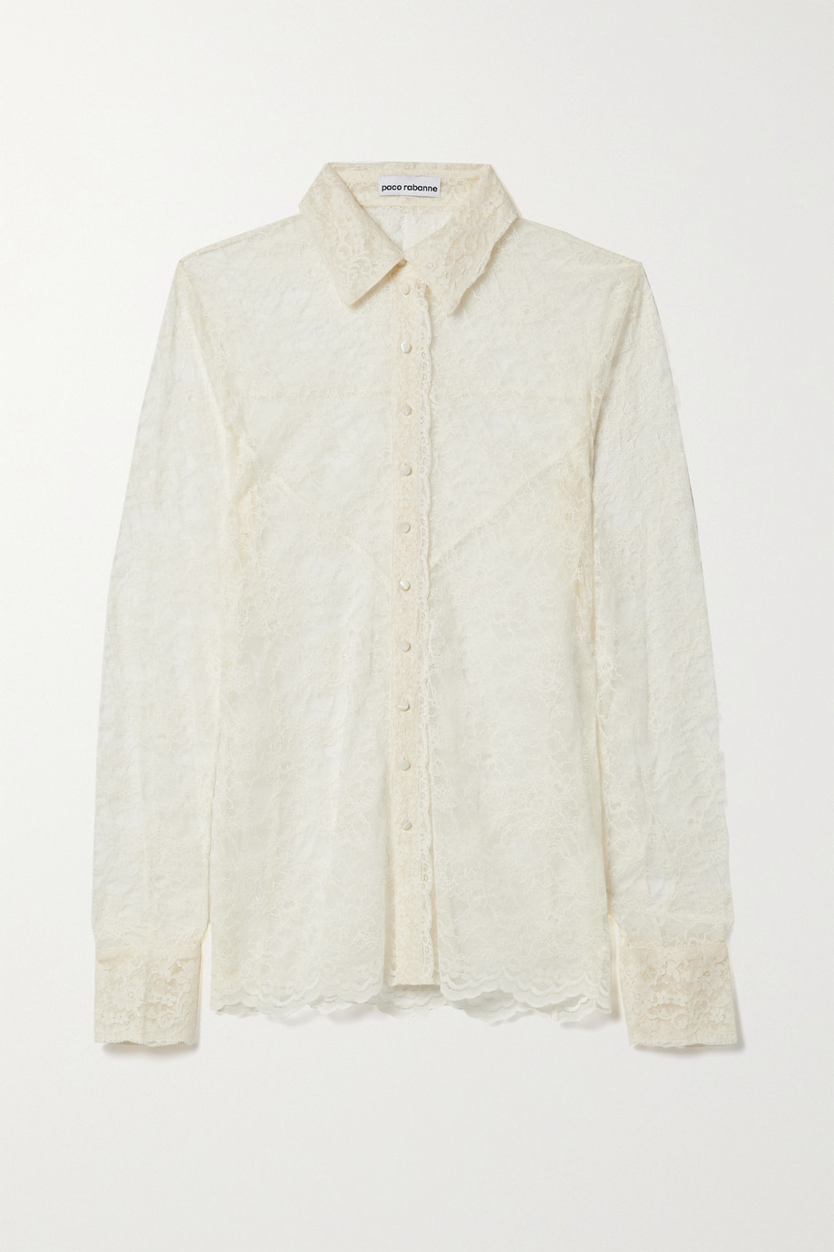 Paco Rabanne Corded lace shirt