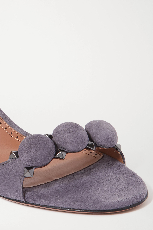 Alaïa Bombe 75 studded suede sandals