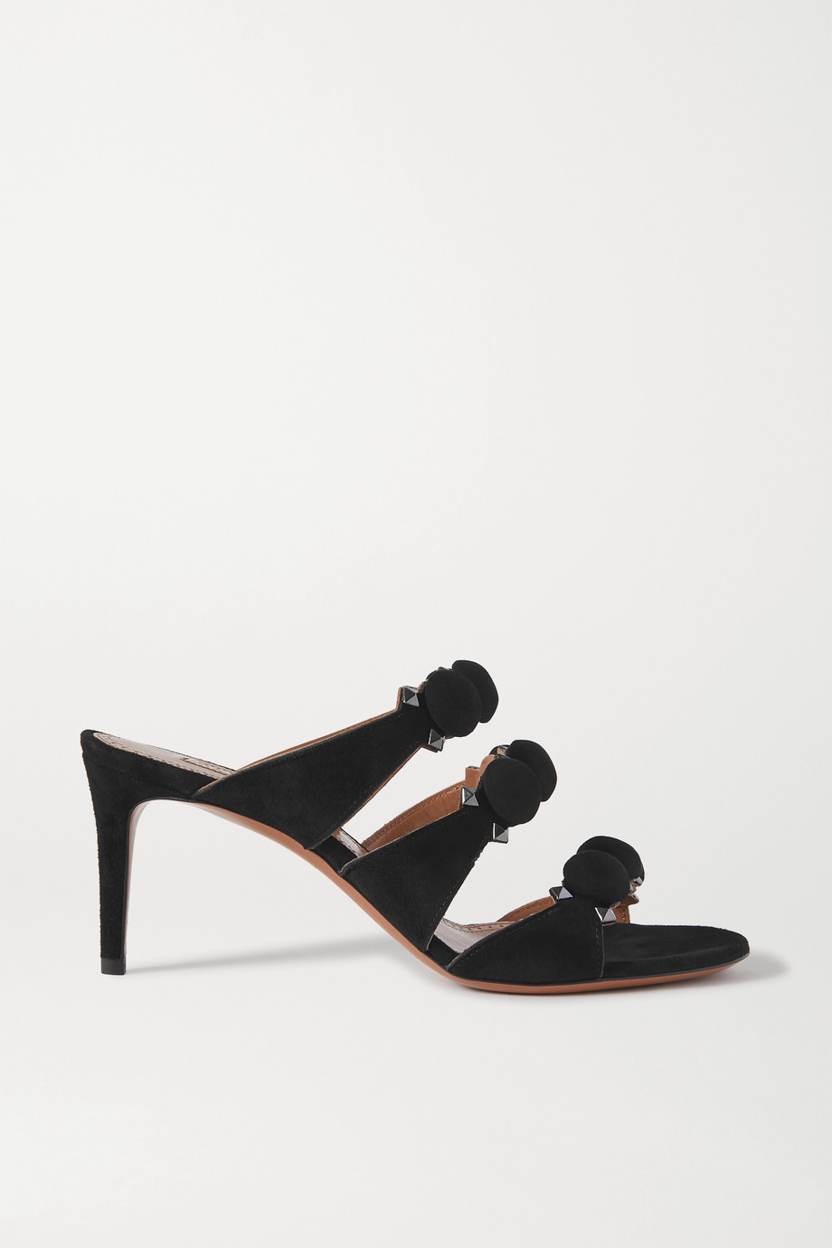 Alaïa Bombe 75 studded suede mules