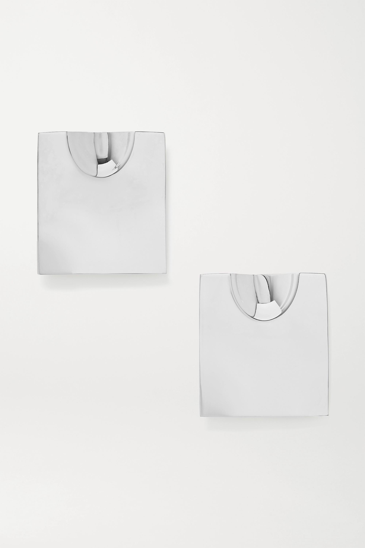 Jacquemus Silver-tone clip earrings