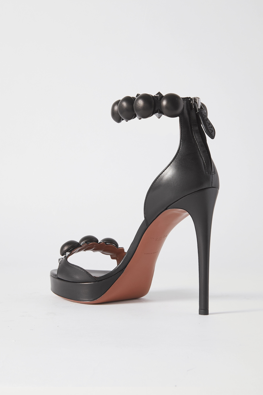 Black Bombe 115 Studded Leather Sandals | Alaïa
