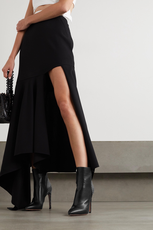 Alaïa 110 eyelet-embellished leather ankle boots