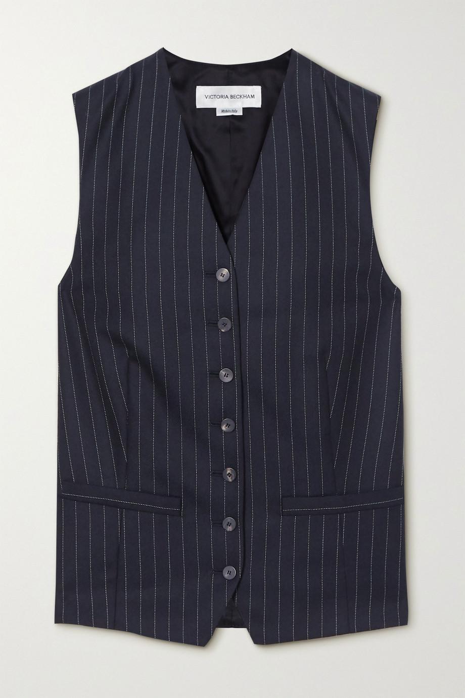 Victoria Beckham Pinstriped wool-twill vest