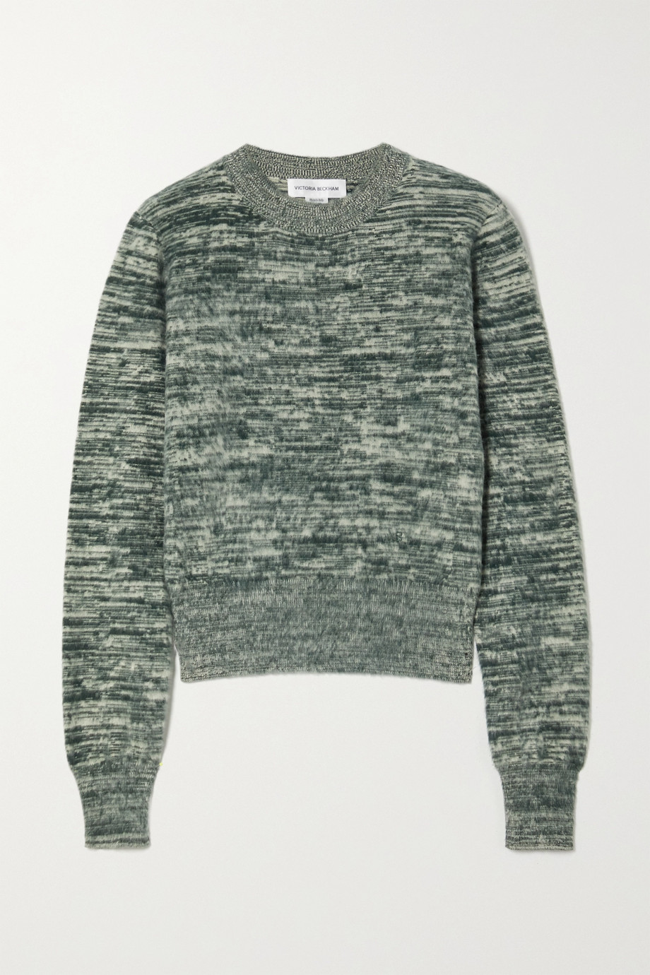 Victoria Beckham Mélange brushed-cotton sweater